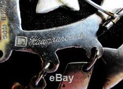 RARE 1940s Fridtjof Morken Bunad Solje Brooch Norwegian 830S Silver UNUSUAL