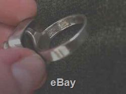 RARE Erik Granit Finland Sterling Silver Modernist Bead Ball Ring Size 6