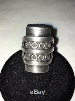 RARE HANS HANSEN Denmark STERLING Silver MODERNIST Ring Sz 6 Mid Century Modern