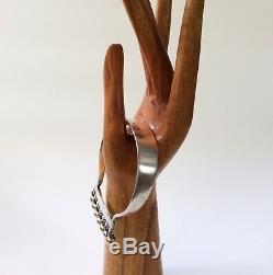 RARE Hans Hansen Denmark Modernist Sterling Silver Bracelet 254, Bent Gabrielsen