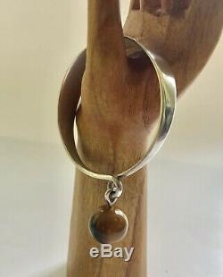 RARE Hans Hansen Denmark Sterling Silver Bracelet with Tigers Eye