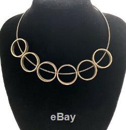 RARE Hans Hansen Denmark Sterling Silver Modernist Necklace, Bent Gabrielsen