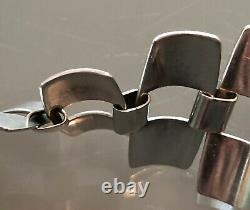 RARE SVAN Sweden 1959 Modernist Sterling Silver Bracelet Geometric Mid Century