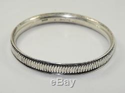 RARE VINTAGE HANS HANSEN Sterling Silver Bangle Bracelet 33.8 g