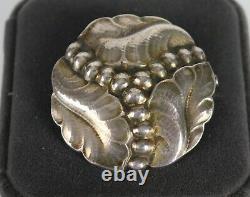 RARE Vintage Georg Jensen Sterling Silver Pin Brooch #82C