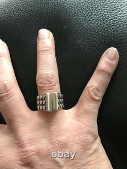 Rare Anna Greta Eker (AGE) Sterling Silver Sølv Knob Ring Norway 5 RARE