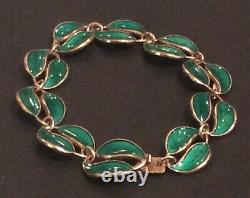 Rare Color David Andersen Norway Vintage 7 Enamel Sterling Silver Bracelet