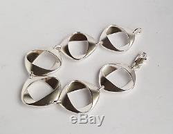 Rare Danish 60's Georg Jensen Silver 925 Bracelet #190 By Henning Koppel
