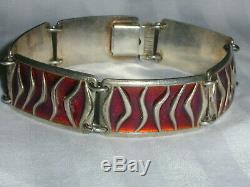Rare David Andersen Norway Sterling Enamel Wave Bracelet