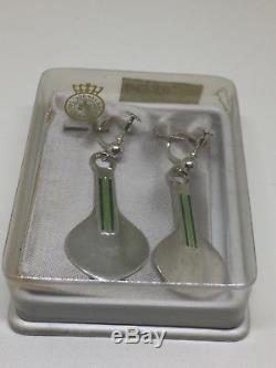 Rare David Andersen Sterling Silver enamel earrings Norway Norwegian