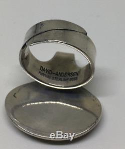 Rare David Andersen Sterling Silver ring Norway Norwegian