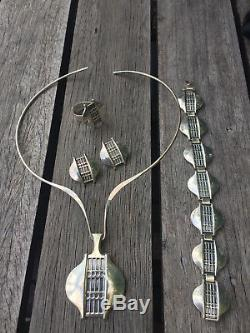 Rare David Andersen Sterling Silver set neckring bracelet Norway Norwegian
