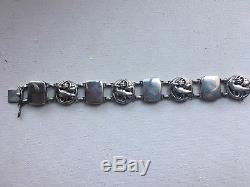 Rare Early Georg Jensen Sterling Silver Dove Art Nouveau Modern Bracelet Denmark