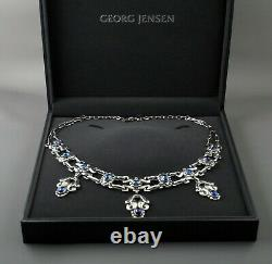 Rare GEORG JENSEN No. 14 Necklace with Blue Stones