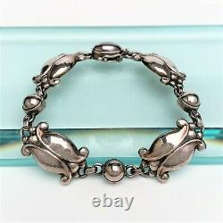 Rare Georg Jensen Sterling Silver Mid Century Modernist Bracelet #11