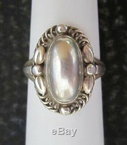 Rare Georg Jensen Sterling silver ring 1 B Denmark size 8.75 Danish Modern
