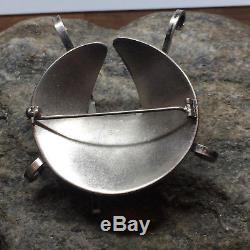 Rare Grete Prytz Kittelsen for Tostrup Sterling Silver Brooch Norway enamel