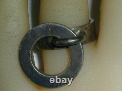Rare Hans Hansen Denmark Sterling Modernist Dangle Ring- Size 6 1/4