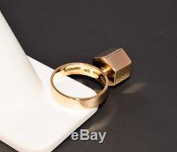 Rare Jens Asby Poul Storm 14k Ring Geometric Flower Modernist 1960s Denmark