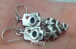 Rare Juhls Kautokeino Sterling Silver Norway Earrings Norwegian Marked 925