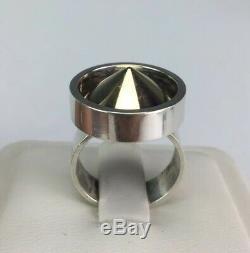 Rare Kupitaan Kulta Finland Sterling Silver & Gold Vermeil Modernist Cone Ring