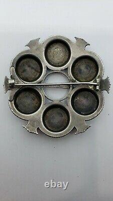 Rare Large Antique 1888-1925 DAVID ANDERSEN 830 SILVER NORWEGIAN BROOCH