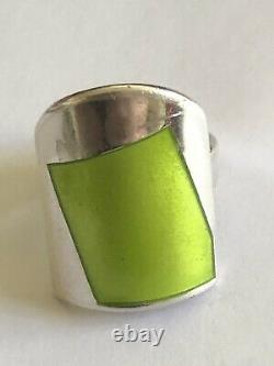 Rare Millie Behrens David Andersen Sterling Silver Enamel ring Norway Norwegian