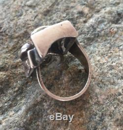 Rare Modernist Ring Uni David Andersen Norway Sterling Silver 925 Handmade