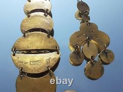 Rare Seppo Tamminen jewelry necklace earrings bracelet Finland scandinavian