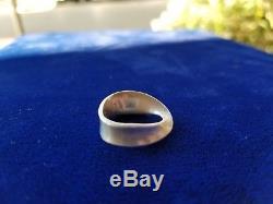 Rare Sterling Silver Modernist Ring by Hans Hansen Georg Jensen Denmark Size 7