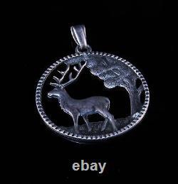Rare Vintage 1920'S Denmark 830S Silver Pendant HANS JORGEN BRODERSEN