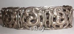 Rare Vintage Norwegian Silver 830S Brodrene Lohne bracelet Norway