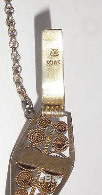Rare Vintage Norwegian Silver 830S Marius Hammer filigree bracelet Norway