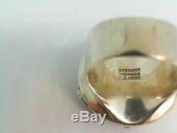 Rare Vintage Signed Neil Eric NE From Denmark Sterling Necklace & Ring Set M102