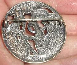 Rare vintage Norwegian Silver 830S dragestil brooch Norway