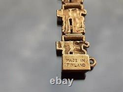 Reino saastamoinen vintage bronze bracelet Finland Moss Agate SCANDINAVIAN