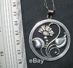 S. H. Mathiesen silver 830s Pendant Denmark