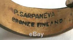 Sarpaneva Finland Bronze Ring Pentti Necklace Brutalist Modern Design Vtg 60s
