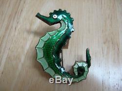 Seahorse Pin / Brooch Guilloche Enamel Sterling Silver David Andersen