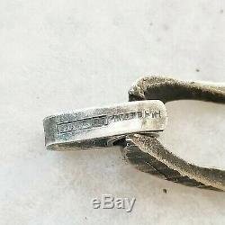 Sten Laine Vintage Finland Brutalist 925 Sterling Silver Turku Bracelet 1973
