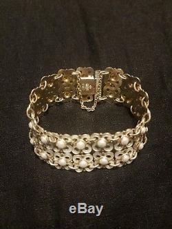 Sterling Norway David-andersen 925s Enamel Modernist Bracelet Willy Winnæss 1950