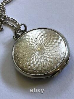 Sterling Silver Enamel 925 Pendant Locket Norway Norwegian