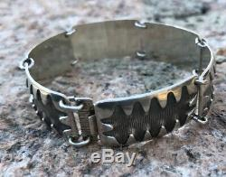 Sterling Silver Enamel Bracelet Albert Scharning Norway Norwegian