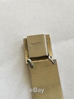 Sterling Silver Enamel Bracelet B. H Norway Norwegian