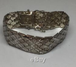 Sterling Silver Norway Norwegian Mid Century Chunky Bracelet