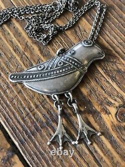 Sterling Silver Pendant Necklace Kalevala Koru Finland