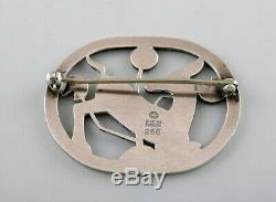 Sterling silver brooch by Georg Jensen. Design number 256. Deer motif