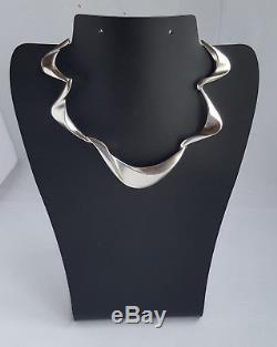 Swedish 2000's IDUNA Silver 925 Modernist Necklace