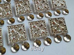 Swedish 2014 Karesuando Silver 925 Bunad Solje Belt 14 Charms