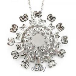 Tapio Wirkkala Design Jewel'Sun' Silver and topazes With Chain Finland